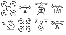Aerial UAV [wireframe] Icon Icons